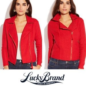 Lucky Brand Red Tweed 'Temera' Moto Jacket